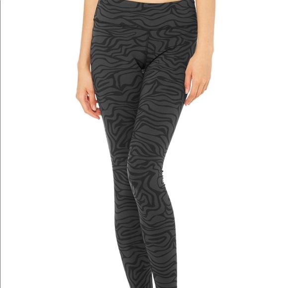 45c3c143fe63c7 ALO Yoga Pants   Alo Airbrush Legging Black Zebra   Poshmark
